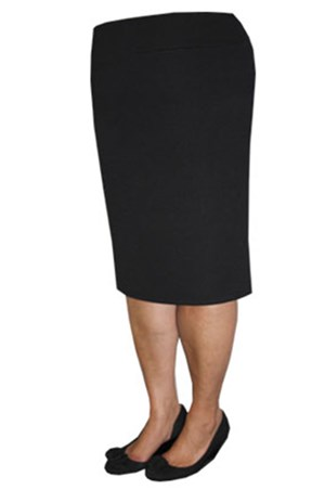 Pique stretch knit pencil skirt