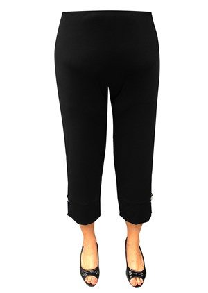CLICK TO SEE COLOURS - BLACK - Bonnie soft knit pant with diamonte trim