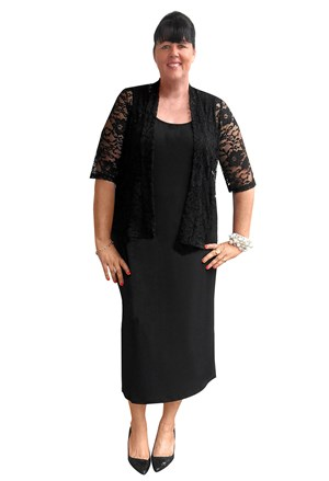 Louise stretch lace shrug