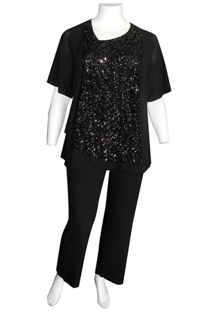 Judith sequin angle top