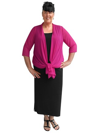 Gail long soft knit skirt with side splits