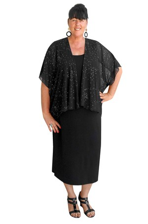 CLICK TO SEE COLOURS AVAILABLE - Leanne sparkle chiffon shrug