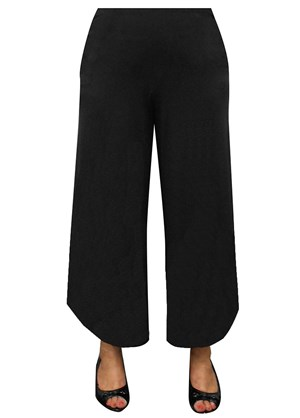 CLICK TO SEE COLOURS - Lara curve hem soft knit pant