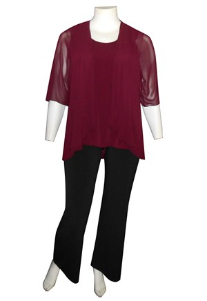 PORT - Linda 2 in 1 chiffon overlay tunic