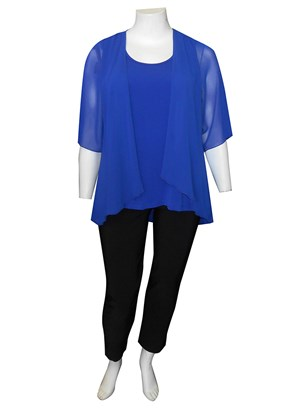 ROYAL - Linda 2 in 1 chiffon overlay tunic