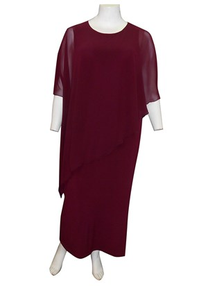 CLICK TO SEE COLOURS - Amy chiffon overlay maxi dress