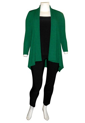LIMITED STOCK - GREEN - Laura textured knit jacket