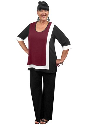 PORT - Lorraine contrast tunic(soft knit jersey)