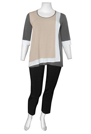 HORN - Lorraine contrast tunic (soft knit jersey)