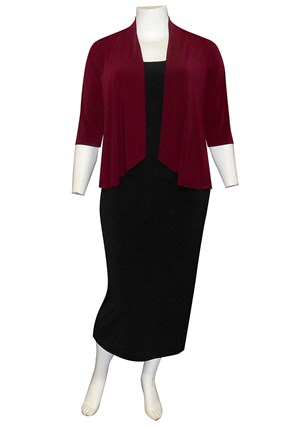 PORT - Bella shorter waterfall shrug (soft knit jersey)