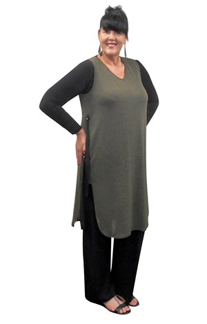 Kate overlay tunic vest (warm knit)