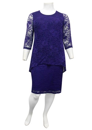 BIBA - Delaney double layered stretch lace dress
