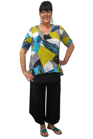 Evie overlay tunic top