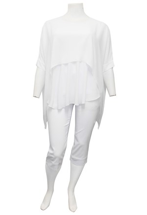 WHITE - Fay double layer DG top