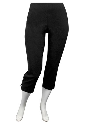 SIZES 16-24 AVAILABLE - BLACK - Kristy bengaline pant