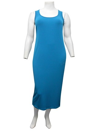 Roxanne Sleeveless Soft Knit Maxi Dress - Teal