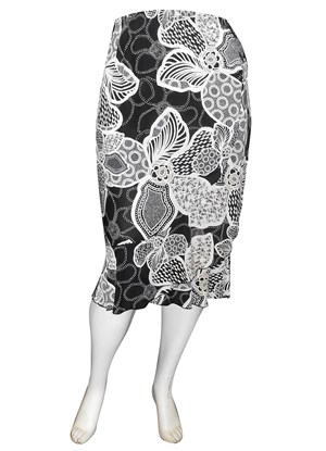 Ruth printed side frill skirt