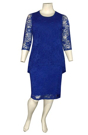 ROYAL - Delaney double layered stretch lace dress