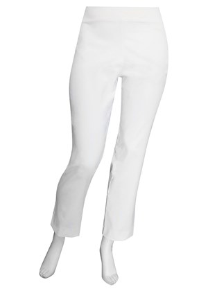 WHITE - Helen bengaline straight leg pant with side splits