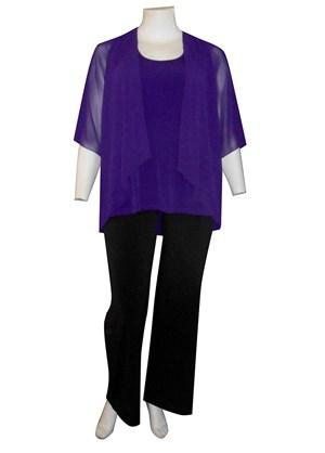 BIBA - Linda 2 in 1 chiffon overlay tunic