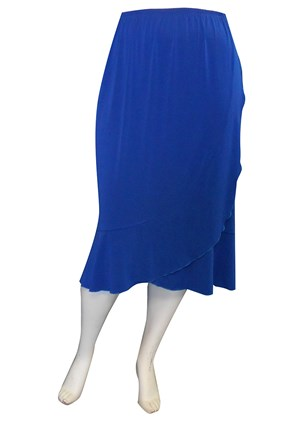 CLICK TO SEE COLOURS - Ruth side frill soft knit skirt