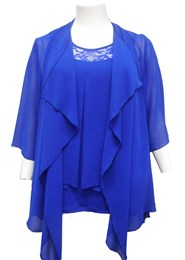 ROYAL - Jenny chiffon waterfall shrug
