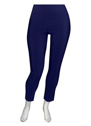NAVY - Helen bengaline straight leg pant with side splits