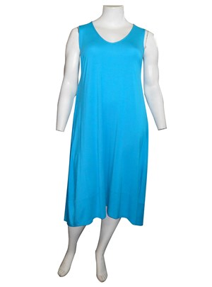 AQUA - Joanna silky knit A-line dress