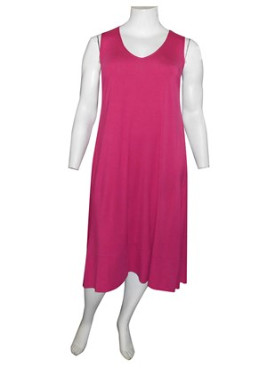 HOT PINK - Joanna silky knit A-line dress