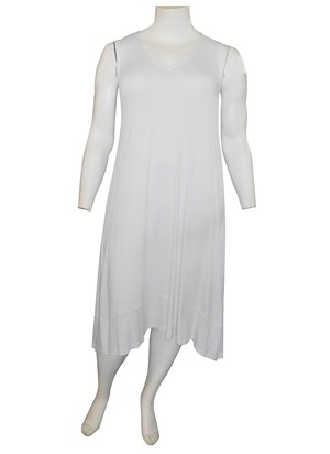 WHITE - Joanna silky knit A-line dress
