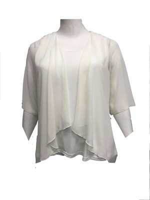 RTM 1783 Linda Tunic Top In Cream
