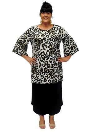 Becky long-line tunic with splits