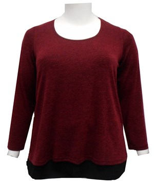BURGUNDY - River island jumper shirt
