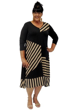 Anabel stripe dress