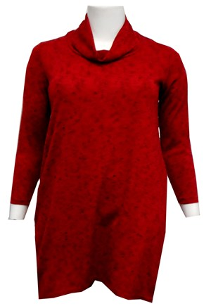 RED - Isabella cowl neck tunic dress