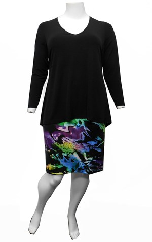 PRINT - Kathy overlay dress