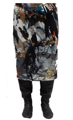 Alana printed ponti skirt