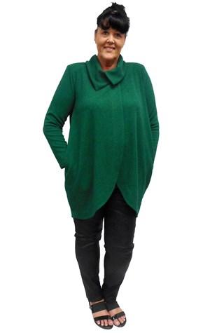 GREEN - Renee chunky knit coat