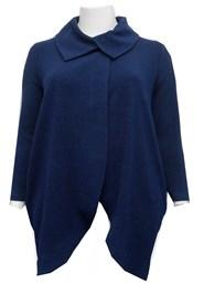 NAVY - Renee chunky knit coat