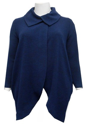 NAVY - Renee chunky knit coat