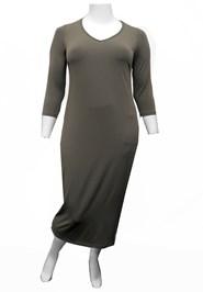 KHAKI - Dawn V-neck maxi dress