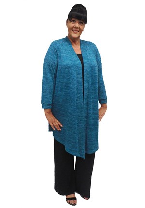 TEAL - Cecile long knit cardi