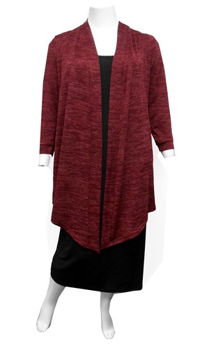 BURGANDY - Cecile long knit cardi