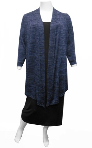 LIMITED STOCK - DENIM - Cecile long knit cardi