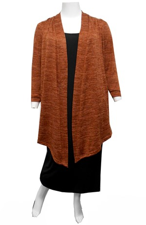 RUST - Cecile long knit cardi