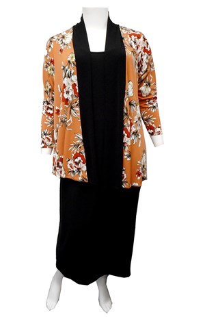Tracey contrast neck band shrug