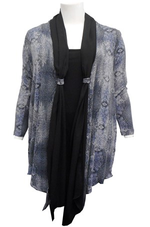 Harriette knit cardigan with scarf