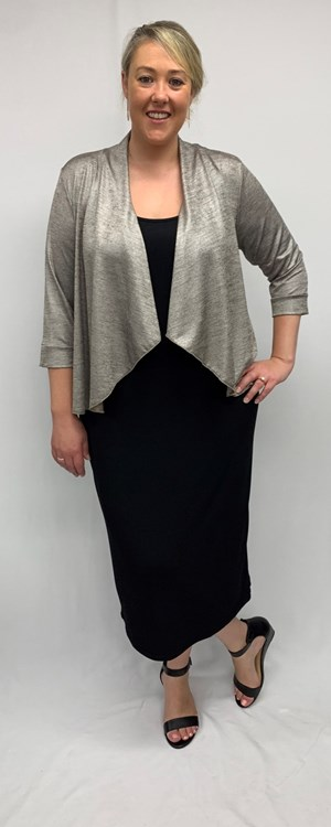 Ally Metallic Knit Shrug