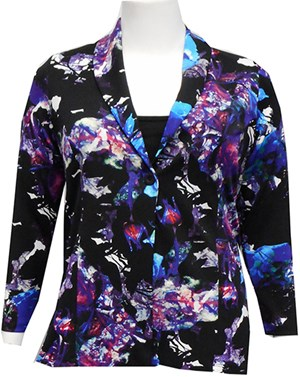 PURPLE -  Kim printed jacket