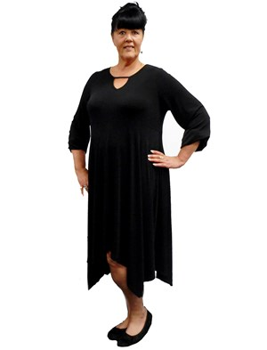 BLACK - Andrea long sleeve dress